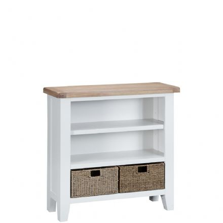 Toulouse White Small Wide Bookcase